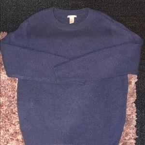 H&M knitted sweater wool Medium Blue